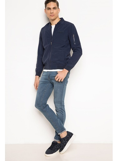 DeFacto Basic Slim Fit Mont Mavi
